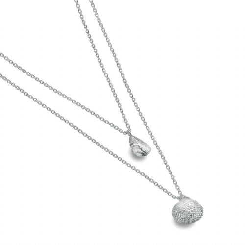 Mussle and Cockle Necklace Solid Sterling Silver Hallmark Luxury Box
